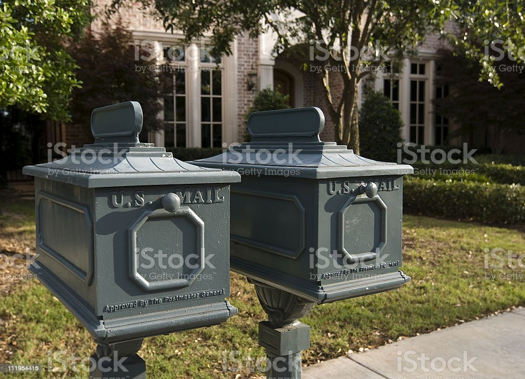 Mailboxes Curbside stock photo