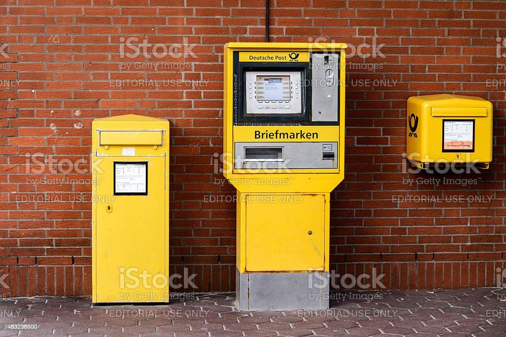 Mailboxes Deutsche Post stock photo
