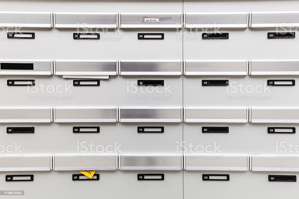 Mailboxes Of An Apartment Building Stock Photo - Download ...