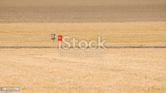 istock Mailboxes on a country road 481211290