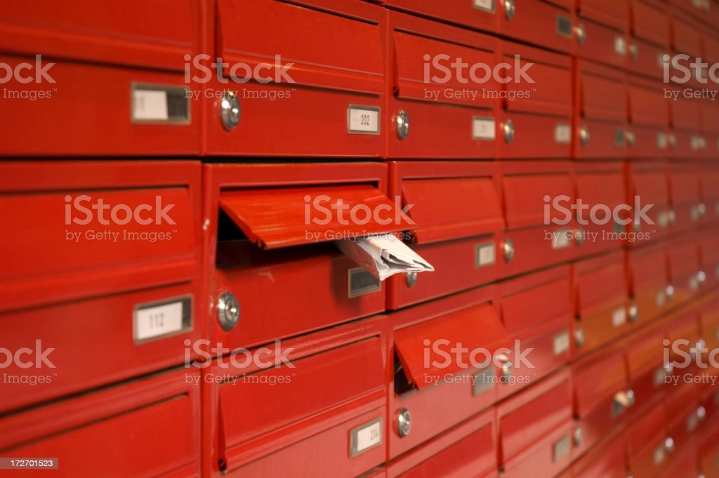 mailboxes royalty-free stock photo