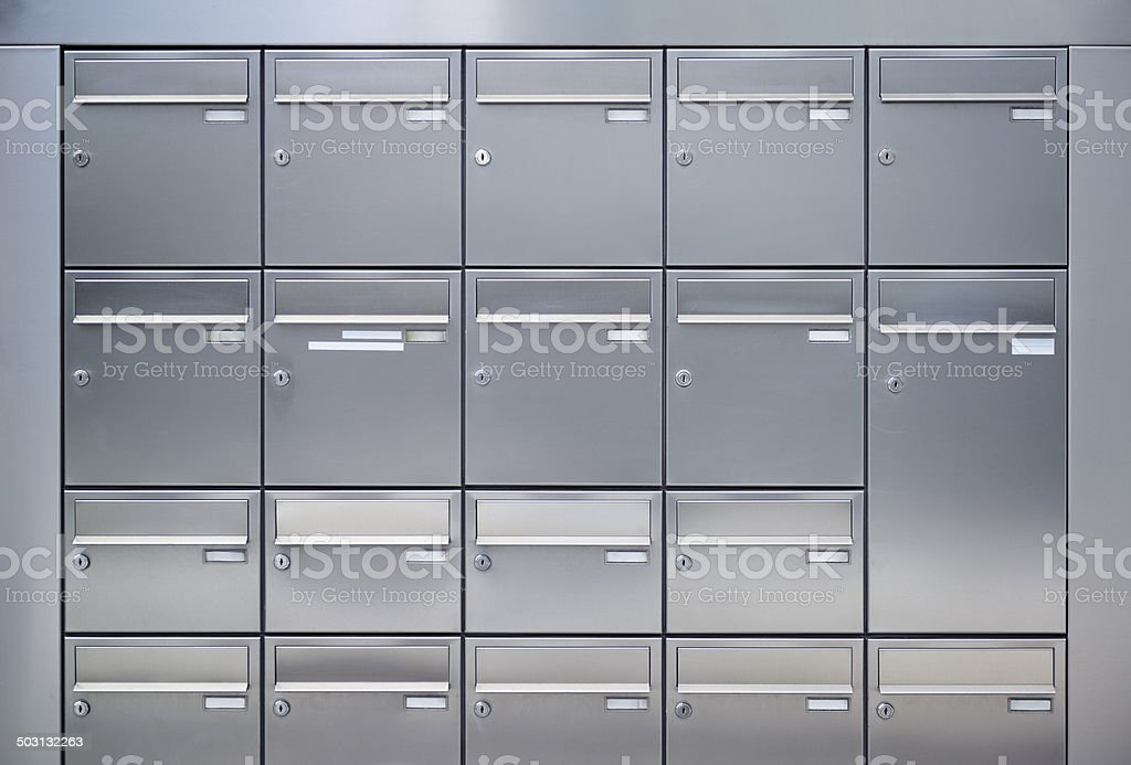 Mailboxes stock photo