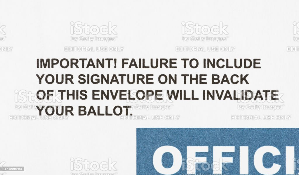 Mail-in Ballot Instructions stock photo