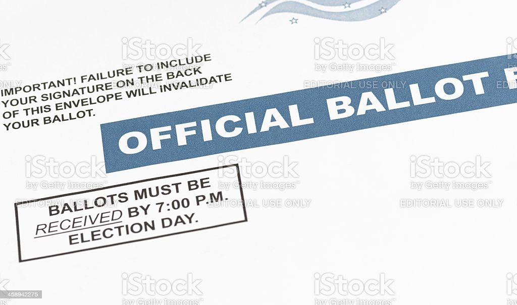 Mail-in Ballot stock photo