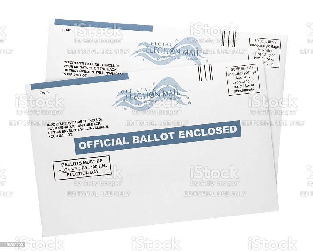 Mail-in Ballots stock photo