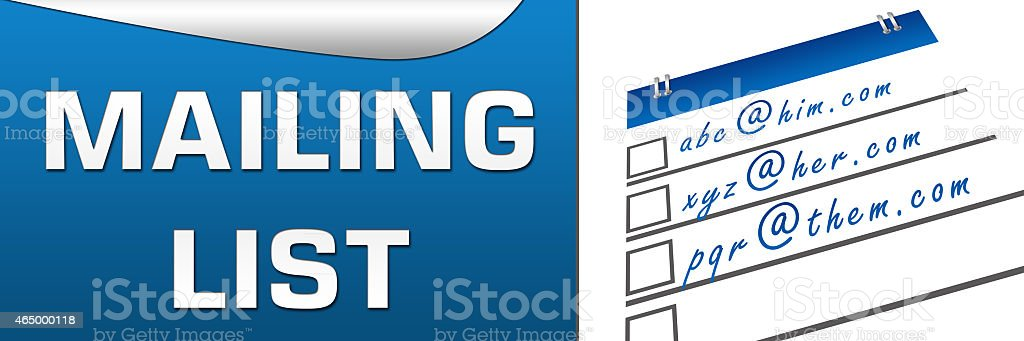 Mailing List Horizontal stock photo