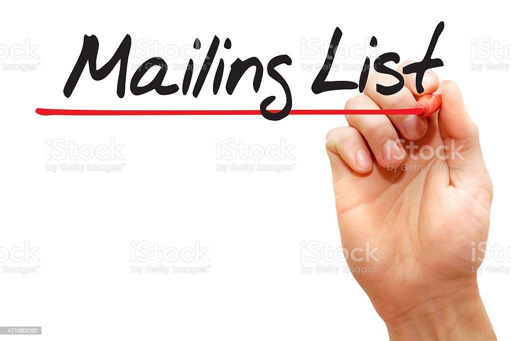 Mailing List stock photo