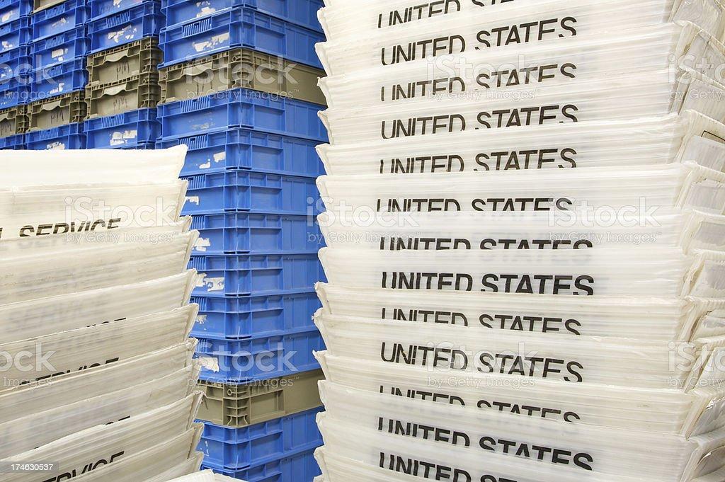 mailing trays stock photo