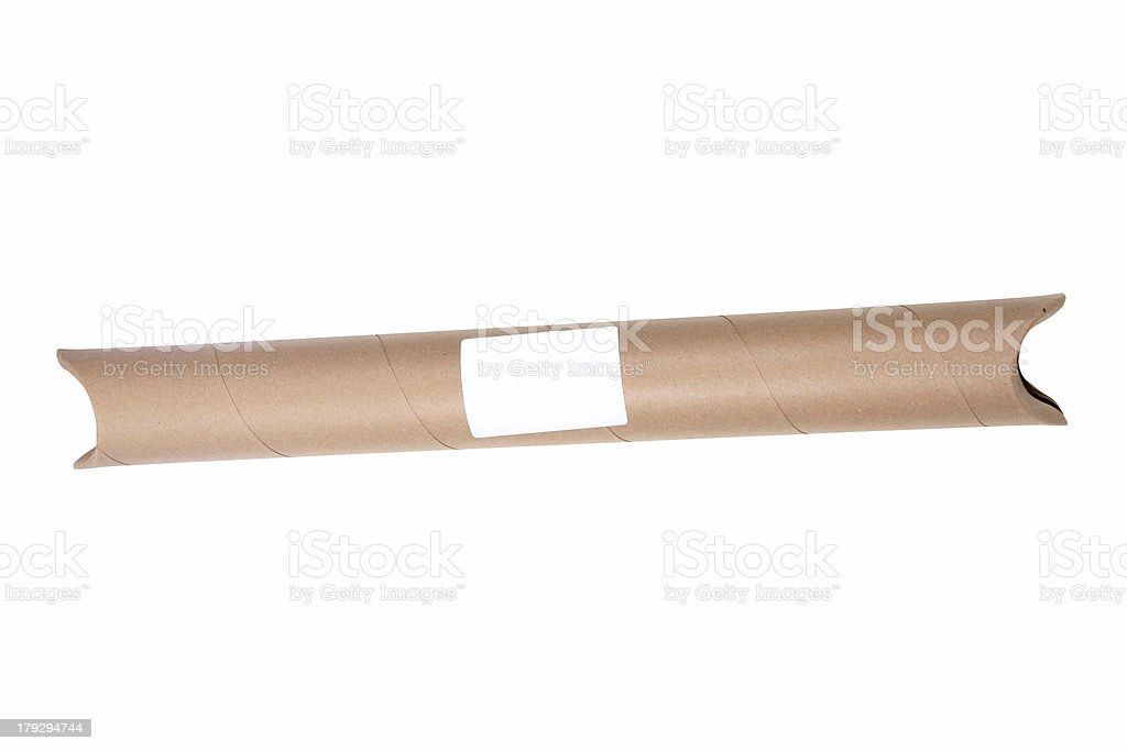 Mailing Tube with label royalty-free stock photo
