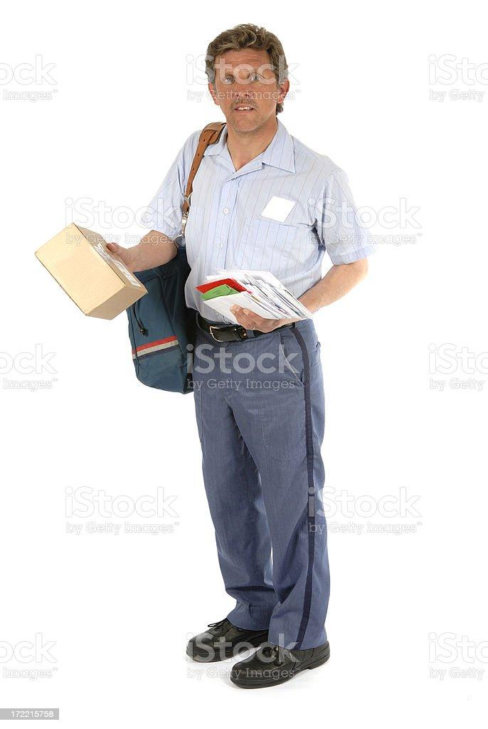 Mailman Parcel stock photo