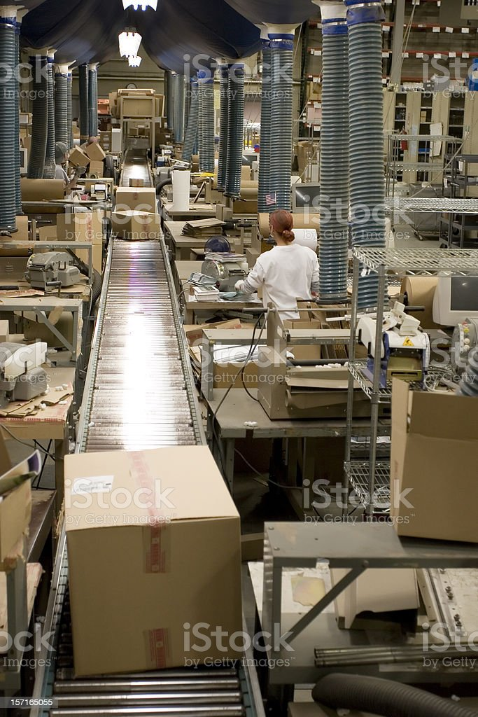 Mail-order warehouse royalty-free stock photo