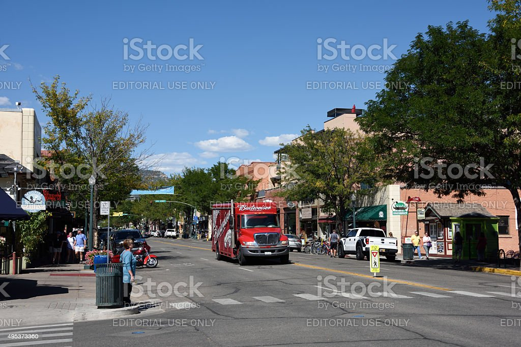 Main Avenue Durango Colorado stock photo