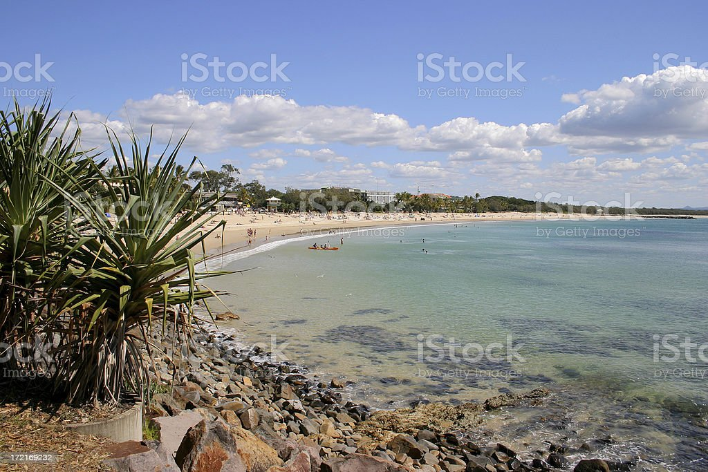 Main Beach Noosa Heads 2 royalty-free stock photo