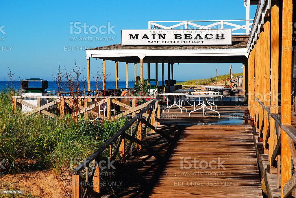 Main Beach Pavilion, East Hampton stock photo