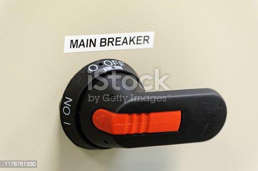 istock main breaker of control circuit 1176751330