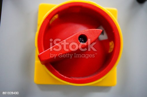 istock Main breaker of control circuit 851328430