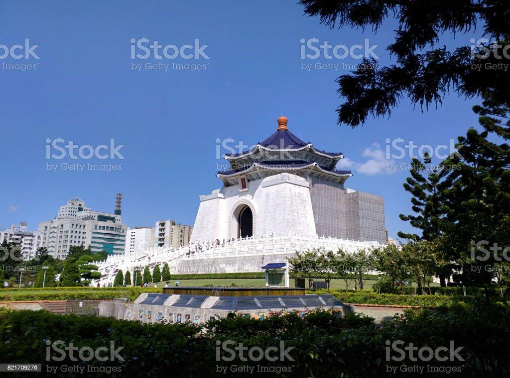 main building of Chiang Kai-shek Memorial Hall stock photo