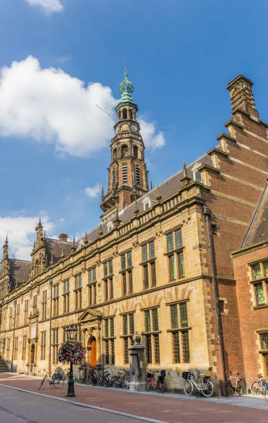 Main building of the university of Leiden, Netherlands Leiden, Netherlands - September 03, 2017: Main building of the university of Leiden, Netherlands leiden stock pictures, royalty-free photos & images