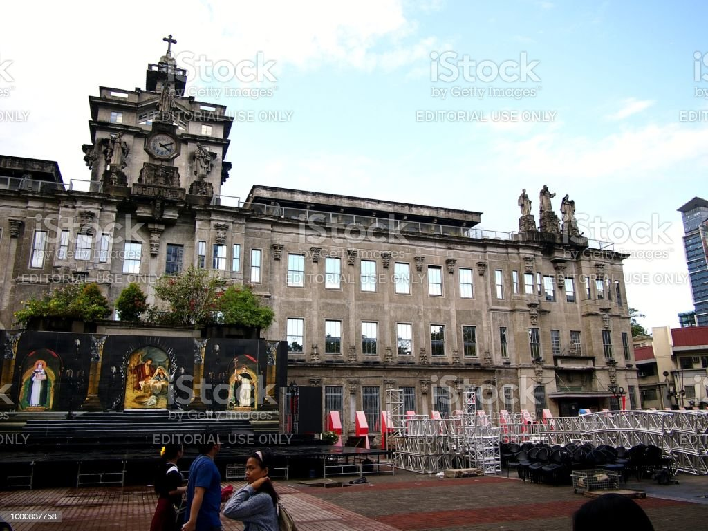 Main building of the University of Santo Thomas in Manila City, Philippines. stock photo