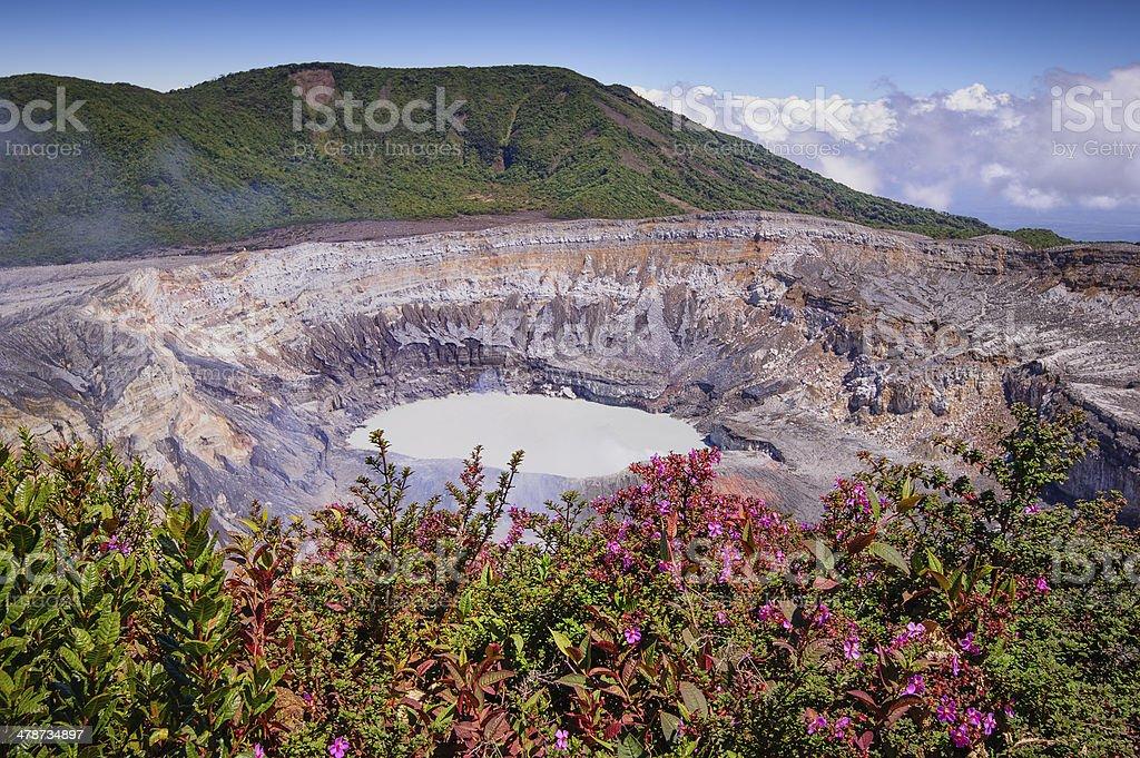 Main Crater-Poas Volcano stock photo