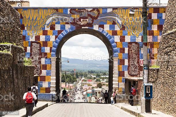 Main door of Chichicastenango, Guatemala