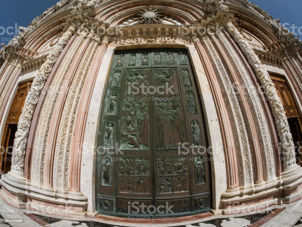 Main door of Siena Cathedral, Italy - Royalty-free Ancient Stock Photo