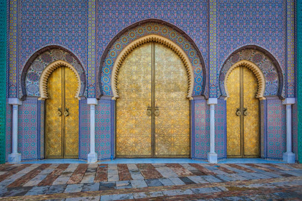 Main doors of the royal palace in Fez (HDRi) – zdjęcie