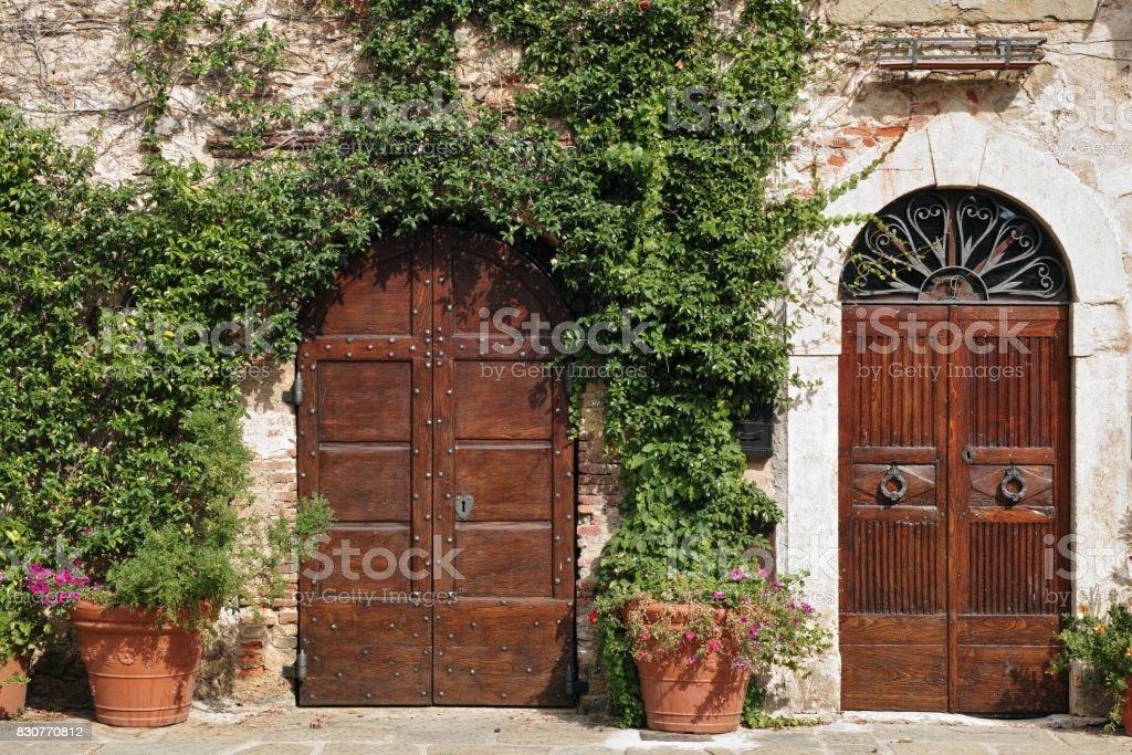 main doors stock photo