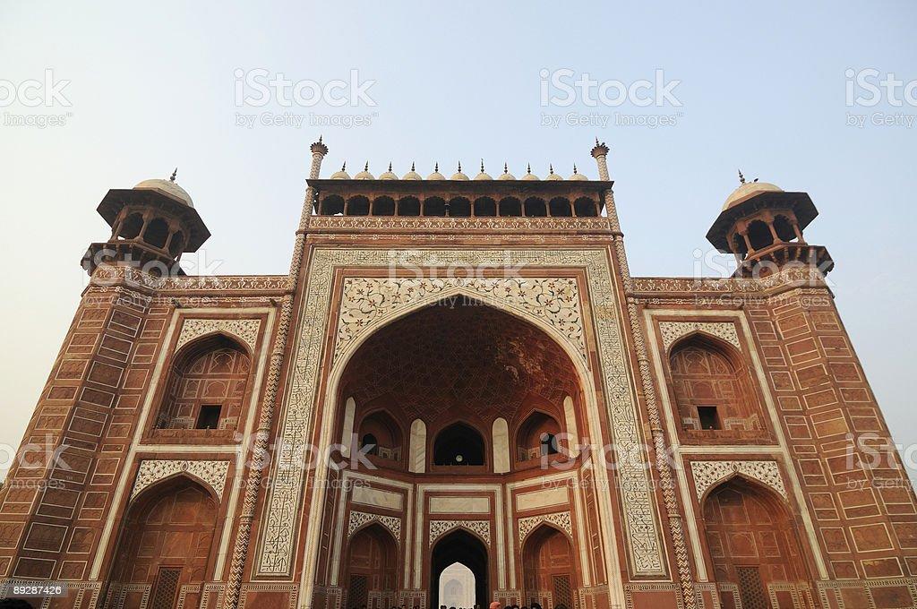 Main entrance of Taj Mahal complex. royalty-free stock photo