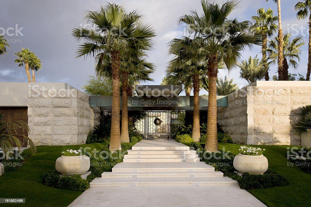 main entrance stock photo