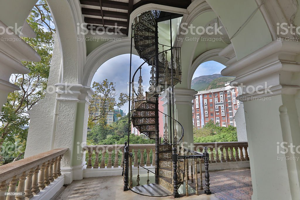 main entrance stairs of university hall stock photo