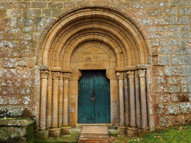 Main entrance to Santa Cristina stock photo