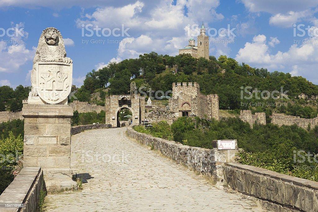 Main Entrance to Tsarevets The main entrance to the fortress at Veliko Turnovo, Bulgaria. Ancient Stock Photo
