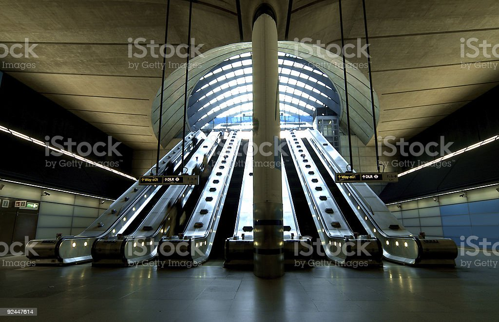 Main Exit at Canary Wharf stock photo