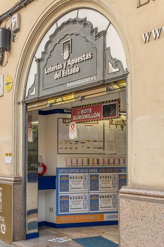 Main facade of a Loterias y Apuestas del Estado establishment