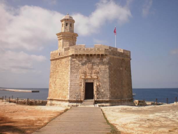 Hauptfassade der Burg von San Nicolas In Zitadelle auf der Insel Menorca. – Foto