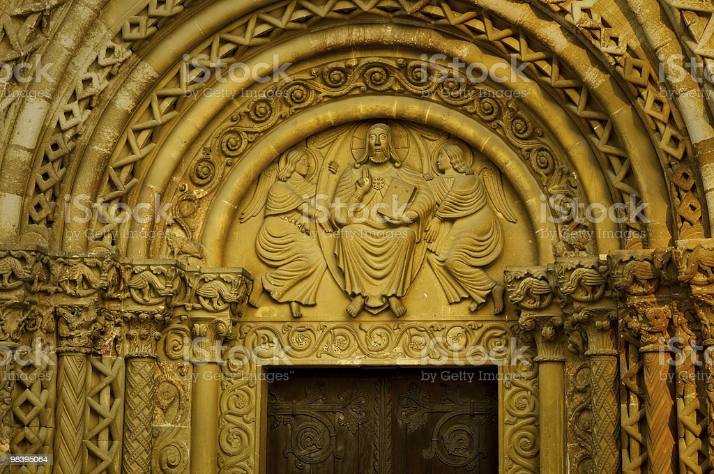 Main gate of a roman cathedral royalty-free stock photo
