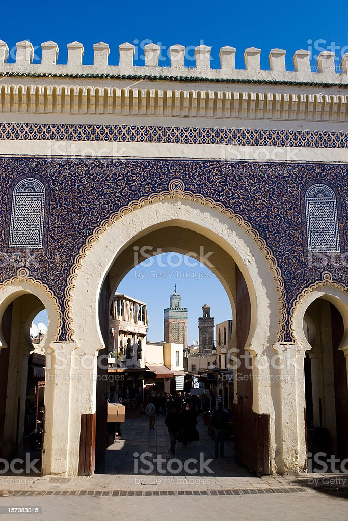 Main Gate of Fes royalty-free stock photo