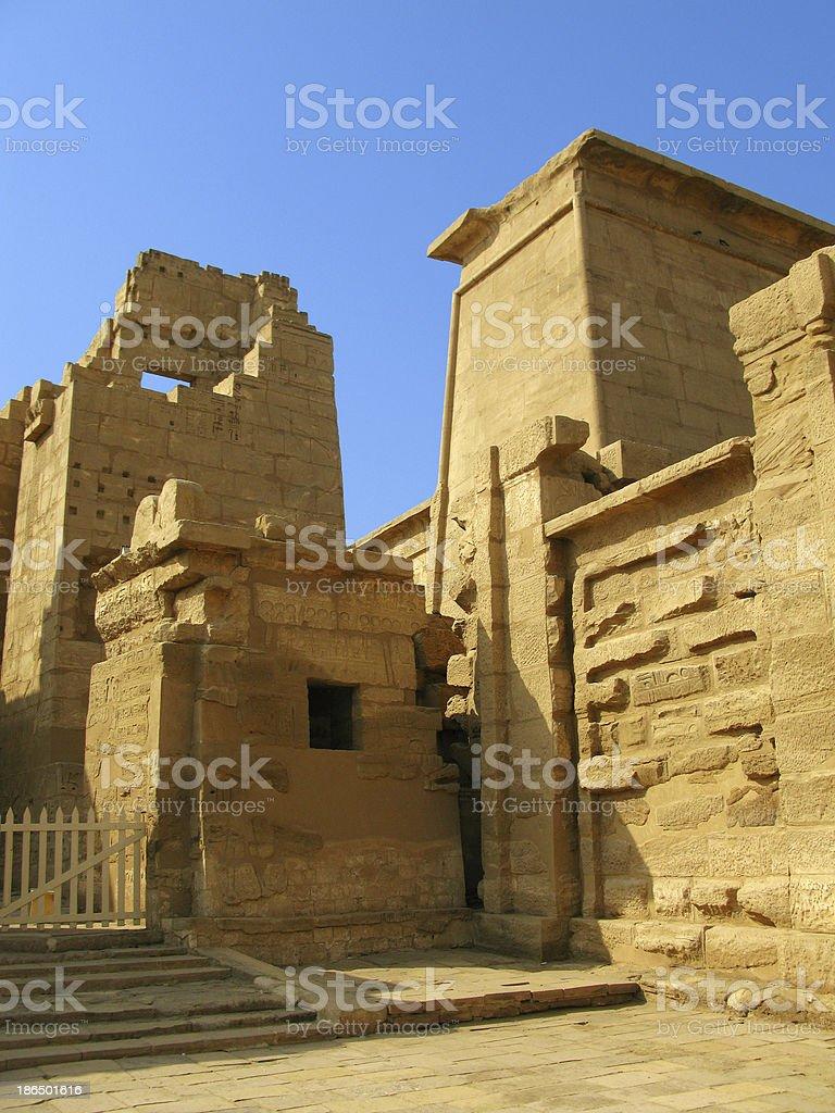 Main gate, temple of Medinet Habu (dedicated to Ramesses III) stock photo