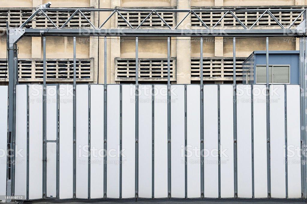 Main gates to prison in Japanese city of Osaka royalty-free stock photo
