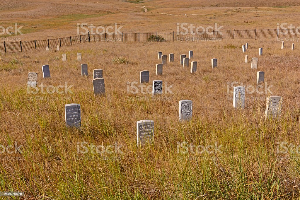 Main Gravesite in an Indian Battlefield stock photo