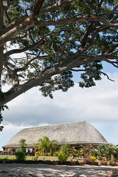 Main Meeting Fale, Samoa stock photo