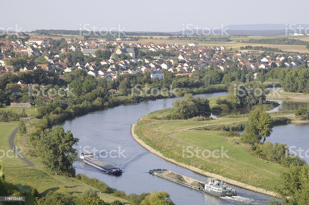 Main near Dettelbach royalty-free stock photo