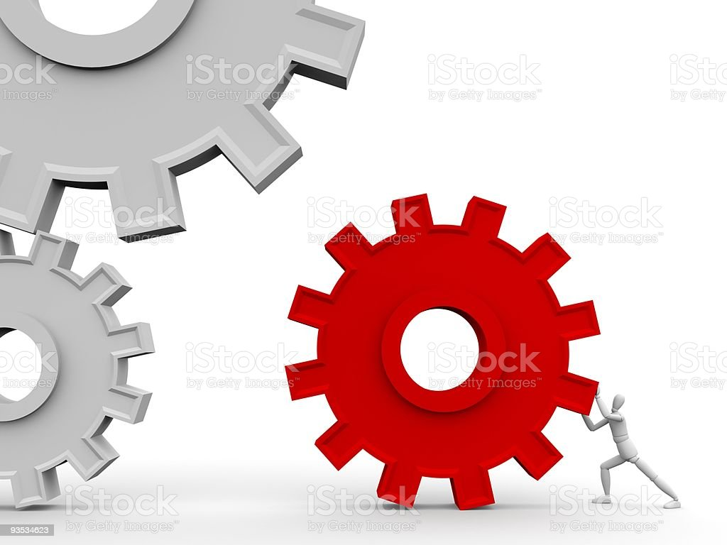 Main part of the mechanism royalty-free stock photo
