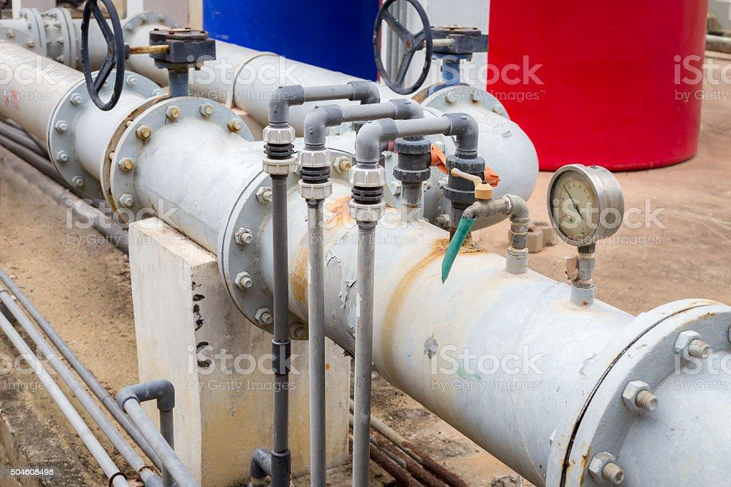 main pipe of water stock photo