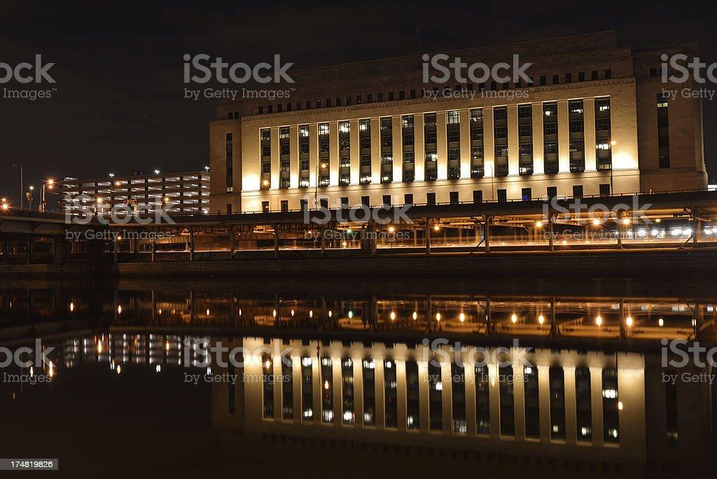 Main Post Office building in Philadelphia stock photo