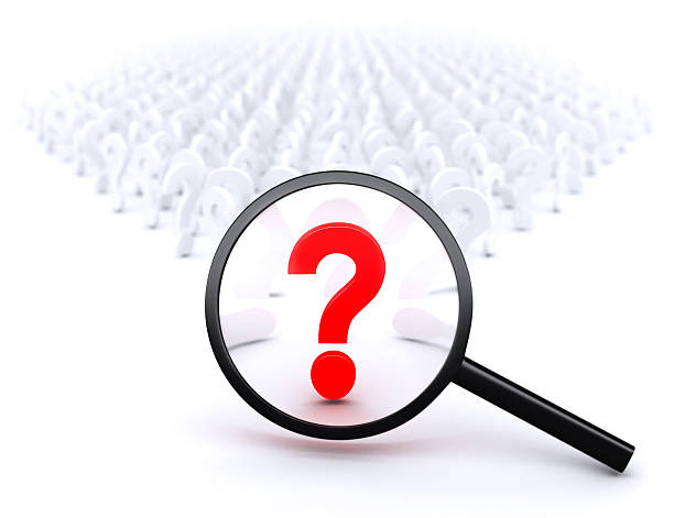 Main Question stock photo