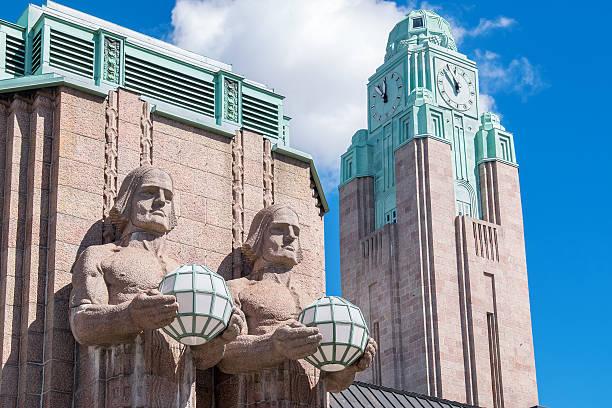 Main Railway Station. Helsinki, Finland stock photo