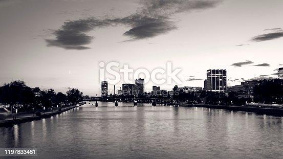 Main Rivier Frankfurt Cityscape
