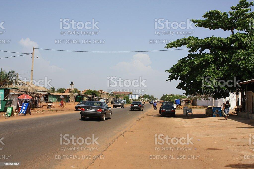 Main Road from Togo to Benin, Chez Alice, Avepozo 2008 stock photo